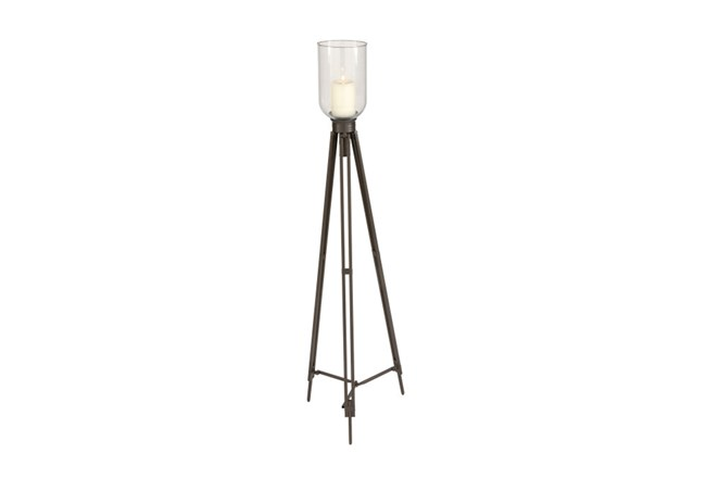 Metal Glass Candleholder Tall - 360