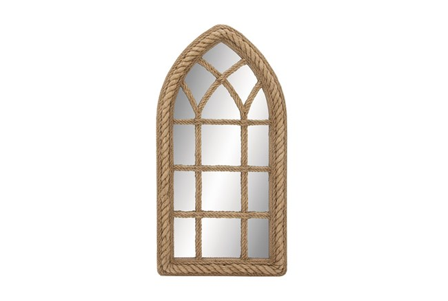 Wood Rope Wall Mirror - 360