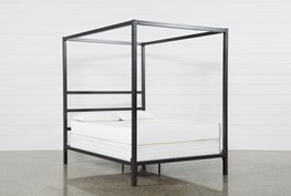 Orson Graphite Queen Metal Canopy Bed