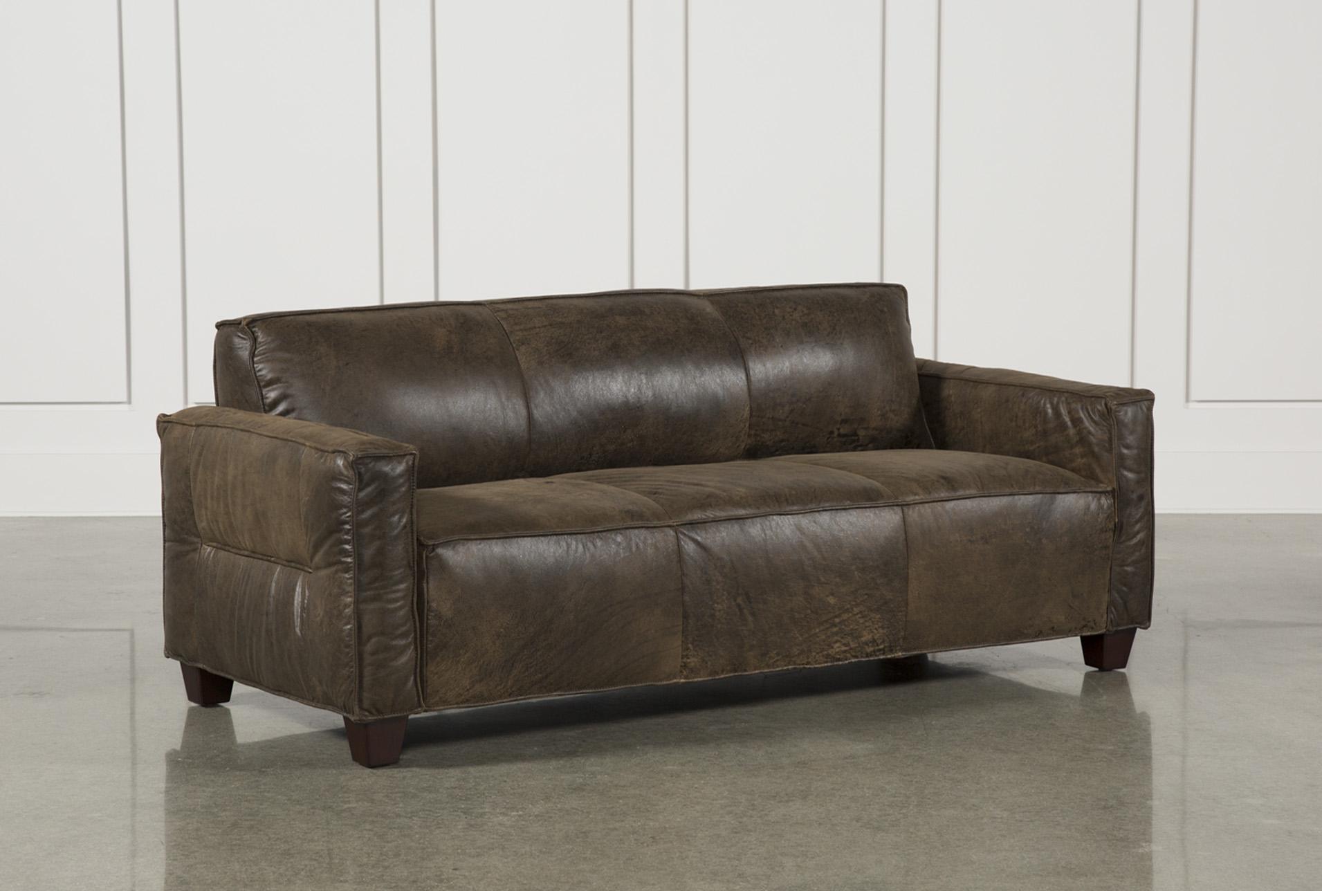 Espresso Leather Sofa   360 Elements