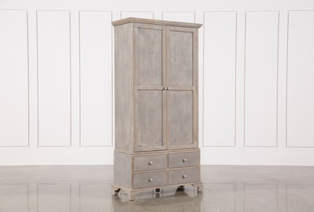 Dark Blue Recycled Pine 85 Inch Tall Cabinet
