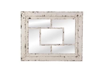 Mirror- White Wash Squares 32X40
