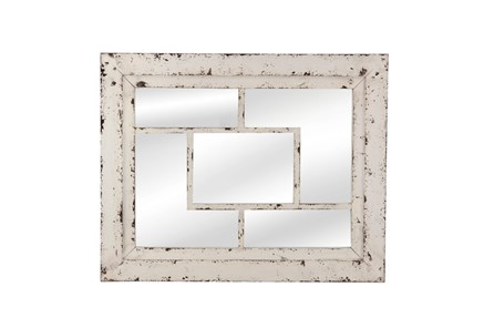 Mirror- White Wash Squares 32X40 - Main