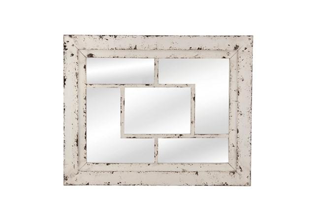 Mirror- White Wash Squares 32X40 - 360