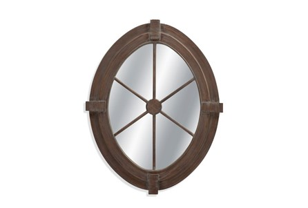 Mirror-Weathered Grey Nautical 34X43