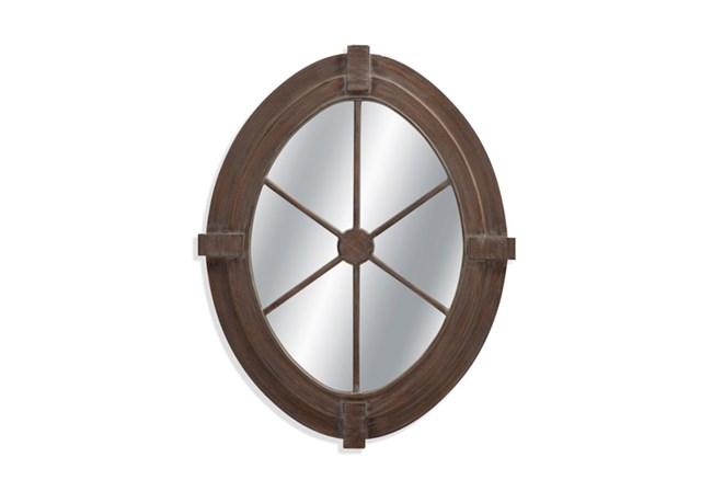 Mirror-Weathered Grey Nautical 34X43 - 360