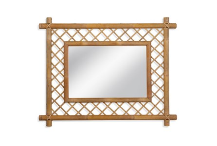 Mirror-Light Wood Lattice 40X59