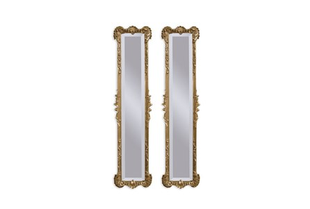 Mirror-2 Panel Gold Antique 12X50