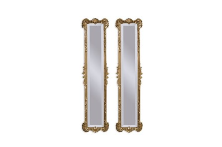 Mirror-2 Panel Gold Antique 12X50 - Main