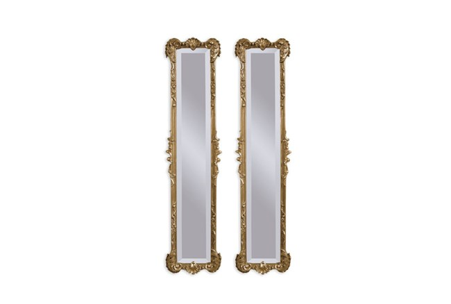 Mirror-2 Panel Gold Antique 12X50 - 360