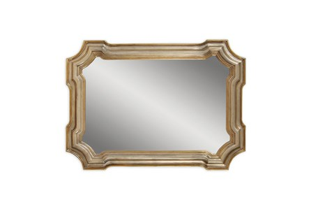 Mirror-Gold And Silver Angelica 31X43 - Main