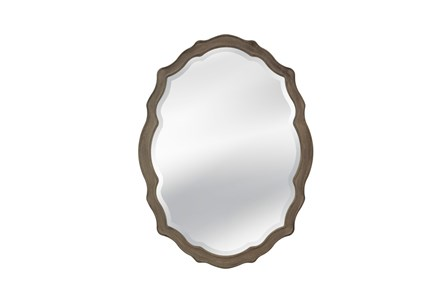 Mirror-Distressed Grey Regal 36X48
