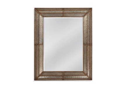 Mirror-Galvanized Metal And Gold 40X50