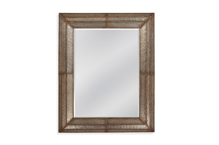 Mirror-Galvanized Metal And Gold 40X50 - Main