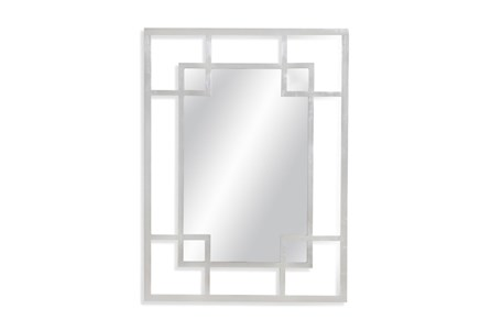 Mirror-Silver Leaf Double Square 36X48