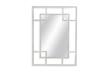 Mirror-Silver Leaf Double Square 36X48 - Main