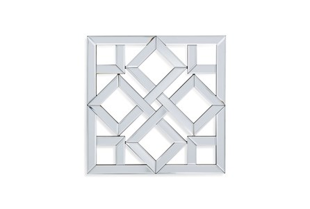 Mirror-Glass Diamond In Square 24X24