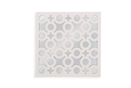 Mirror-White Laquer Charms 20X20