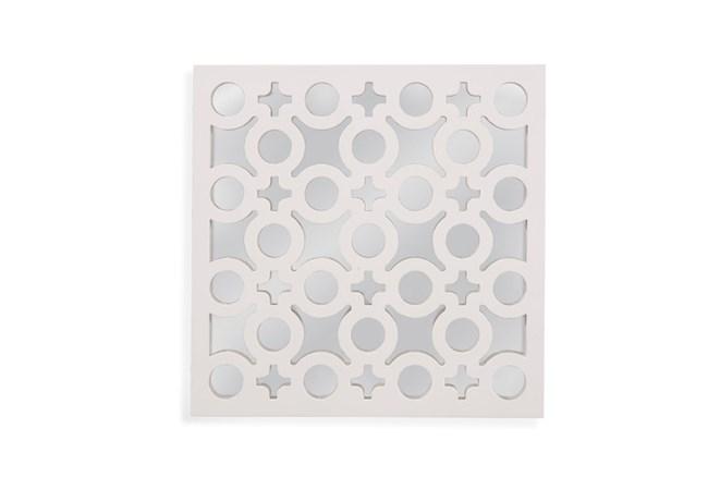 Mirror-White Laquer Charms 20X20 - 360
