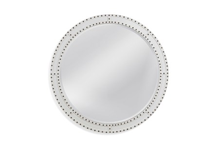 Mirror-White Circle Stud 40X40