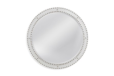 Mirror-White Circle Stud 40X40 - Main