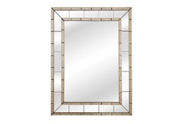 Mirror-Antique And Clear Trim 36X48
