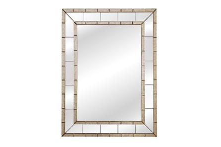 Mirror-Antique And Clear Trim 36X48 - Main