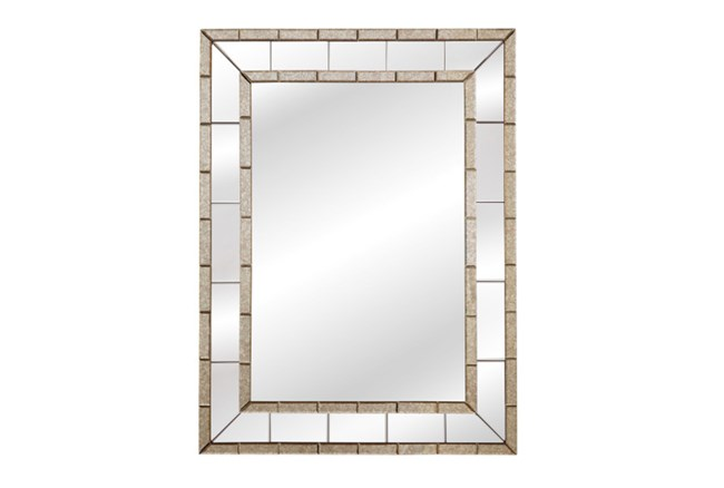 Mirror-Antique And Clear Trim 36X48 - 360
