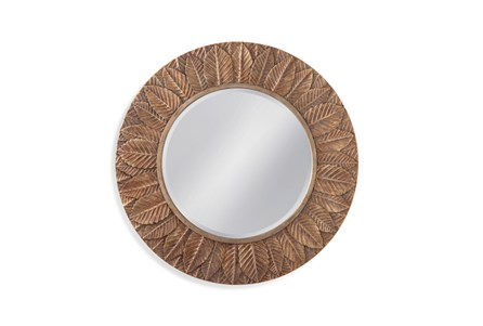 Mirror-Bronze Leaf Circle 38X38
