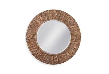 Mirror-Bronze Leaf Circle 38X38