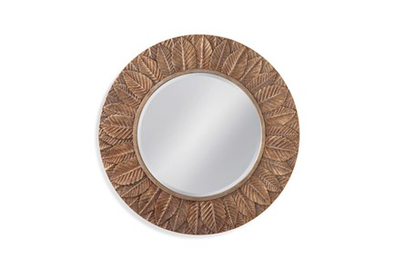 Mirror-Bronze Leaf Circle 38X38 - Main