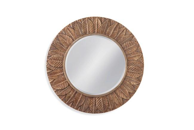 Mirror-Bronze Leaf Circle 38X38 - 360