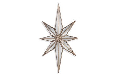Mirror-Distressed Wood Star 16X28 - Main