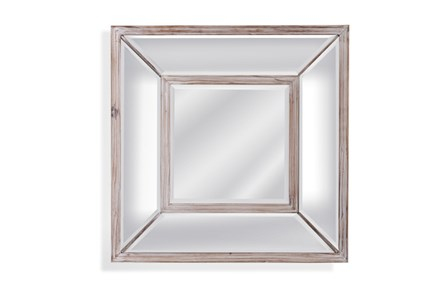 Mirror-Glass And Wood Square 24X24 - Main