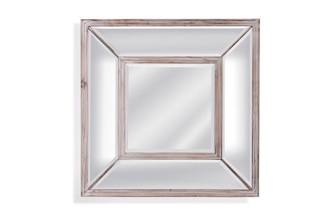 Mirror-Glass And Wood Square 24X24 - 360