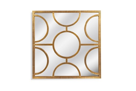 Mirror-Gold Half Circles 40X40