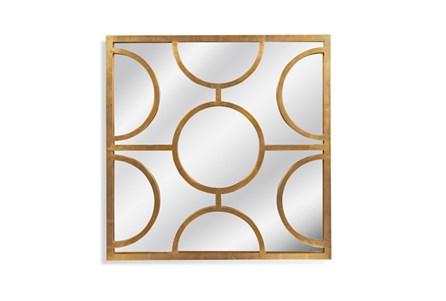 Mirror-Gold Half Circles 40X40