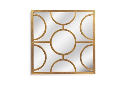 Mirror-Gold Half Circles 40X40 - Main