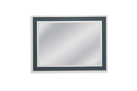 Mirror-White With Blue Accent 36X48 - Main