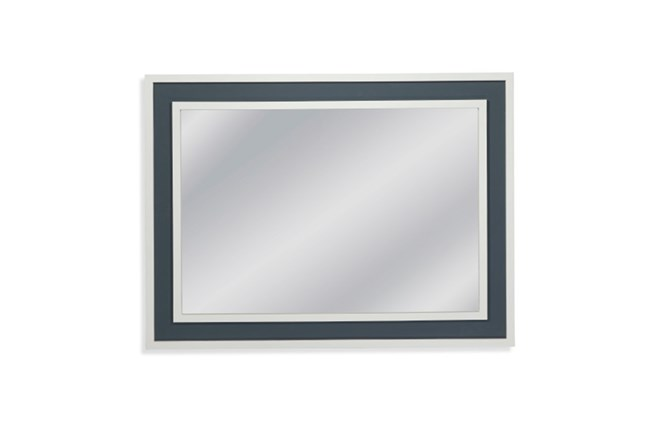 Mirror-White With Blue Accent 36X48 - 360