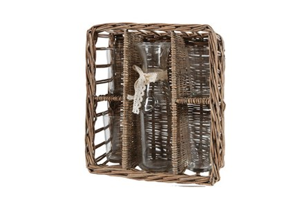 Basket Bottle And Cups - Main
