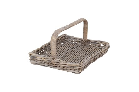 Rattan Basket With Handle - Main