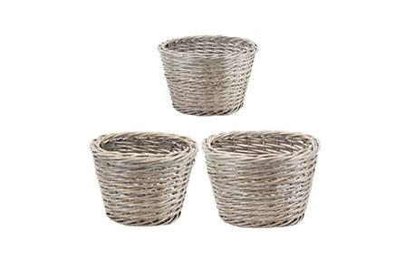 3 Piece Set Willow Baskets - Main