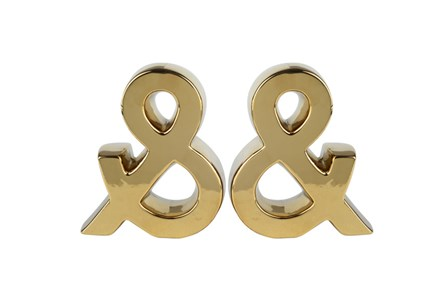 Gold Ampersand  Bookends - Main