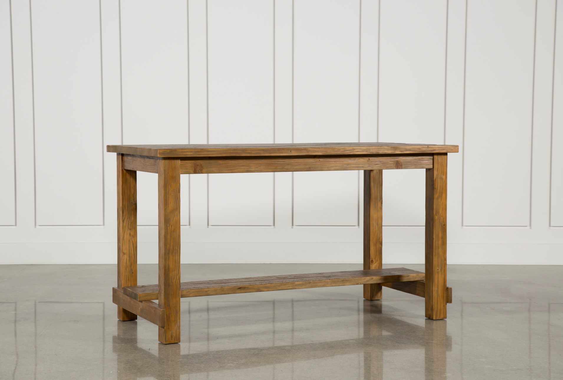 Natural Wood Pub Table Living Spaces
