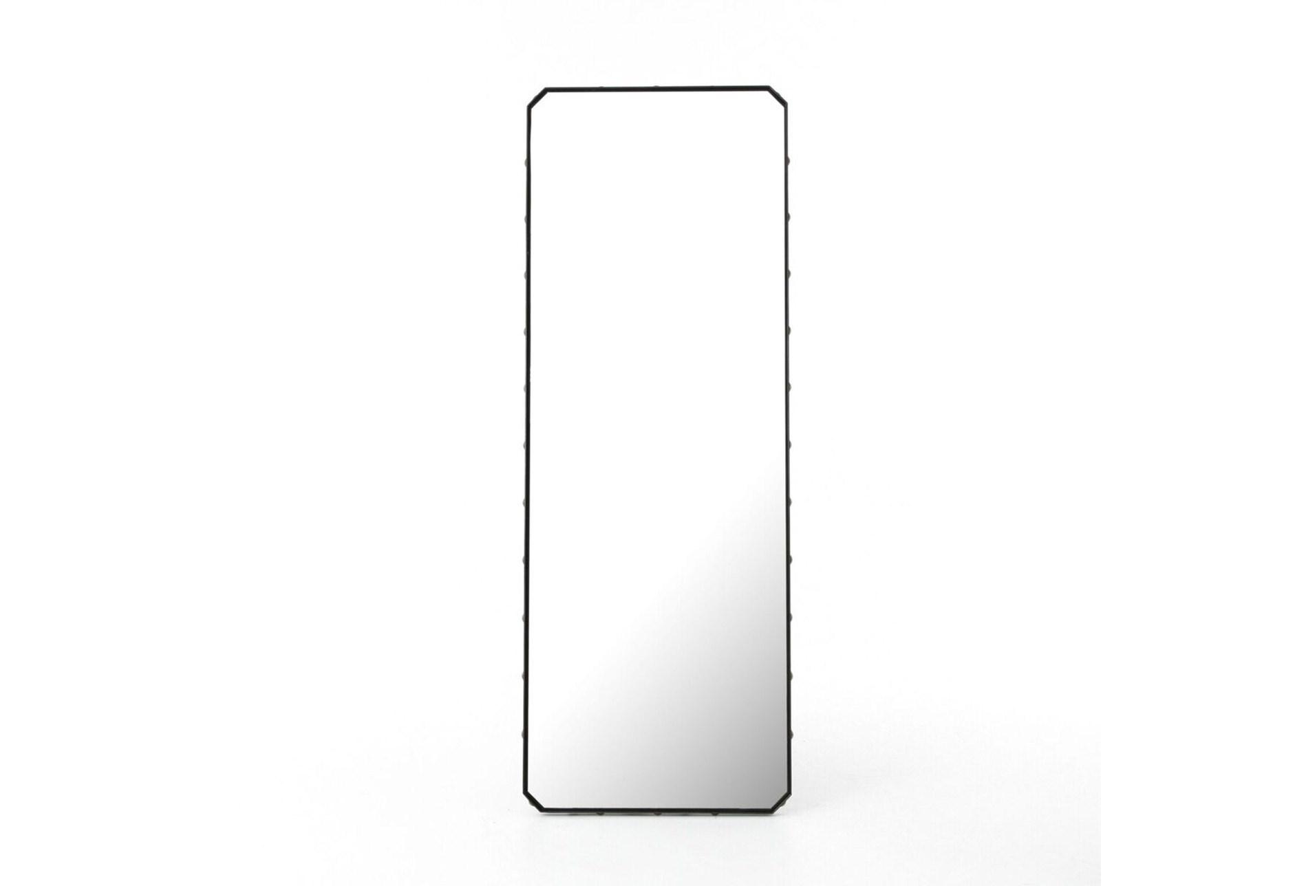 Black glass floor mirror living spaces for Glass floor mirror