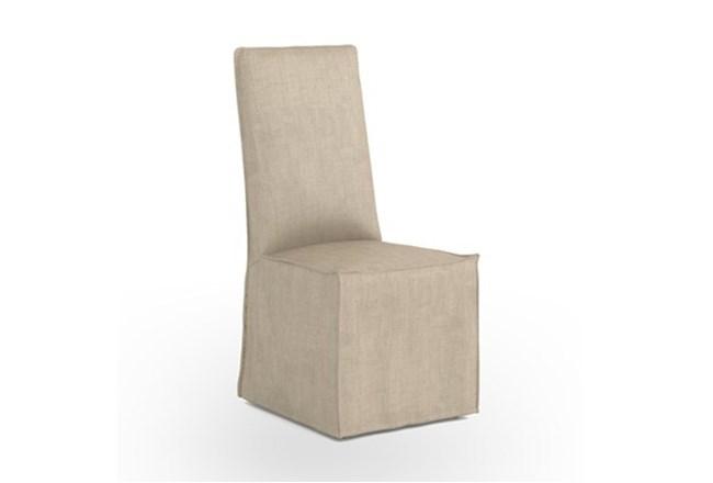 Natural Linen Dining Chair - 360