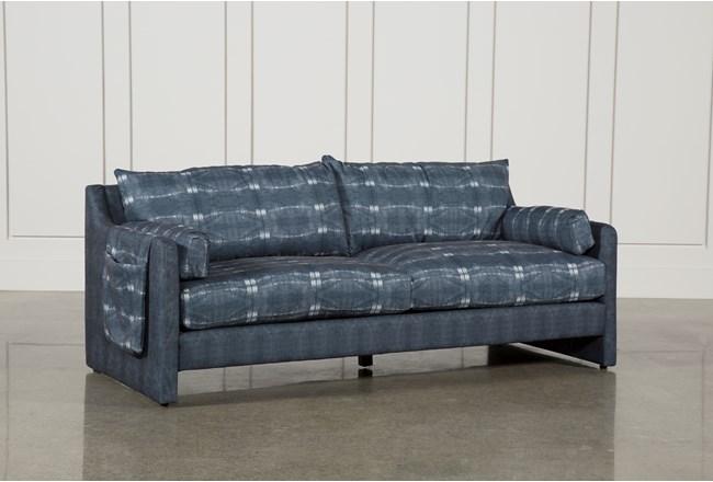 tie dye linen sofa living spaces