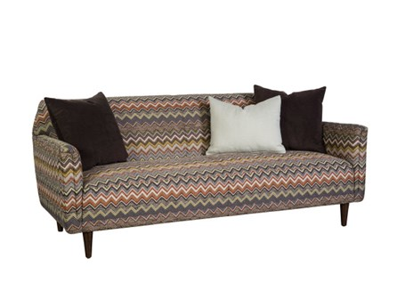 Chevron Print Sofa