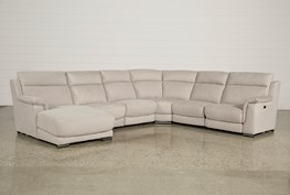 Kerwin Silver Grey 6 Piece Power Reclining Sectional W/Laf Chaise